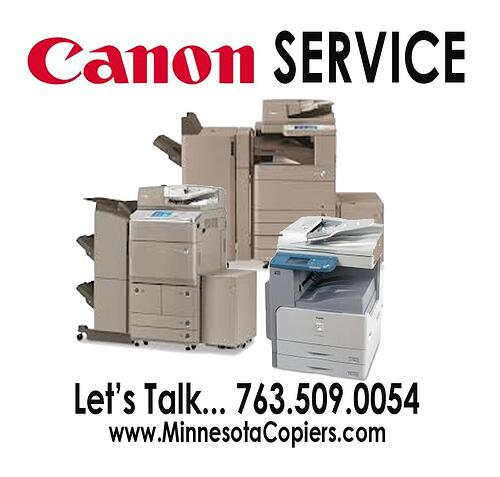 Canon Copier Repair Service Sales Supplies Minneapolis St Paul Mn